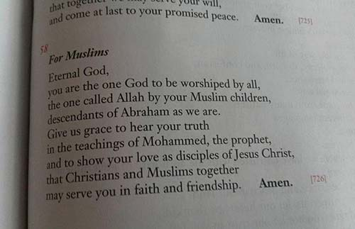 Praying for Jews and Muslims