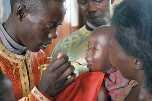 Giving Holy Communion to Infants