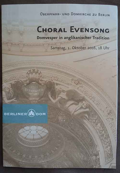 Choral Evensong Spreads