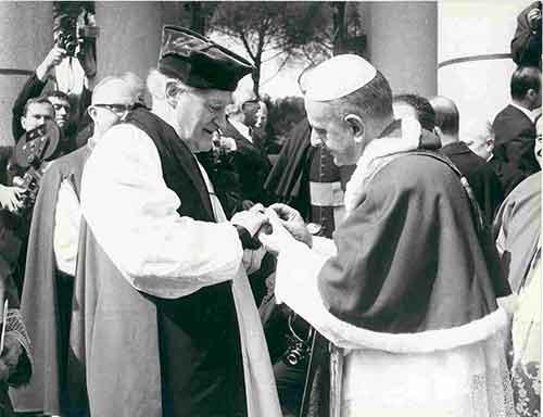 Archbishop Michael Ramsay Pope Paul VI