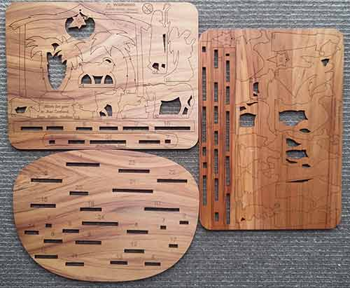 Natural Wood Advent Nativity Calendar