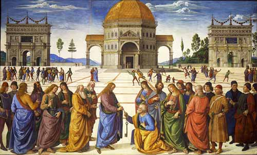 Perugino - Christ gives Keys to Peter