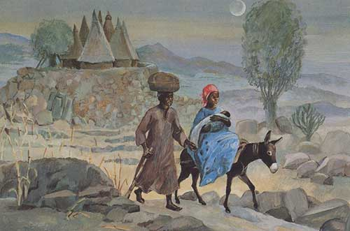 Flight Into Egypt Jesus Mafa