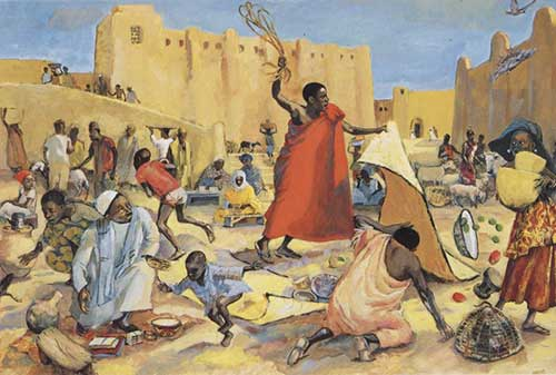 Jesus drives out the merchants Mafa