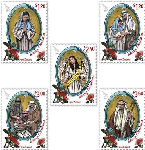 NZ 2018 Christmas Stamps NZ