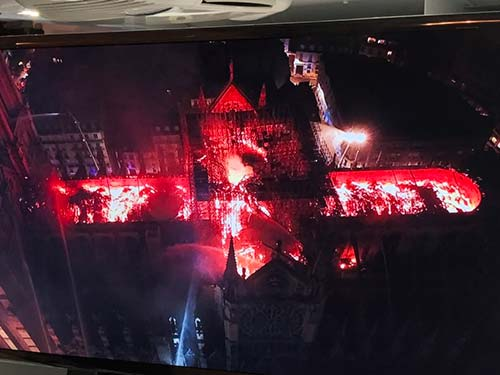 Notre Dame cross of fire