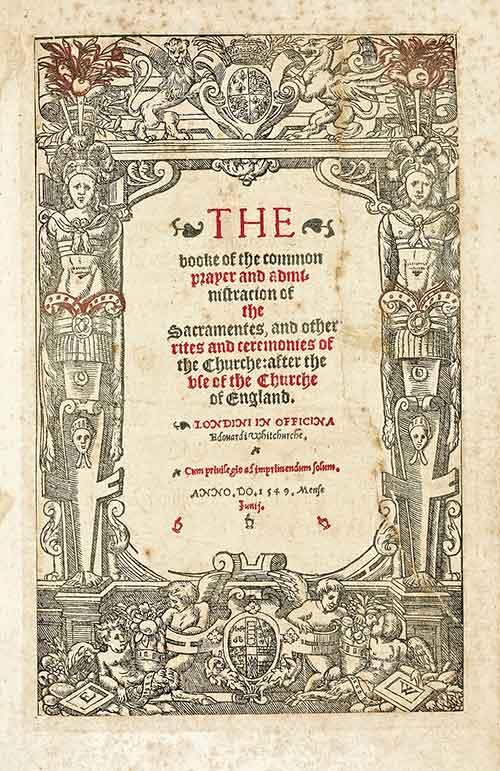 Book of Common Prayer 1549