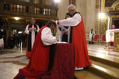 Archbishop of Canterbury commissions Archbishop Ian Earnest as new Director of the Anglican Centre, Rome.