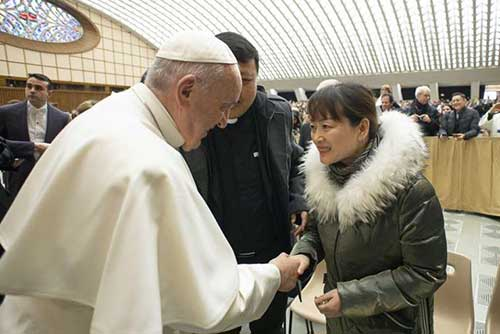 Pope Francis Meets with Woman After Losing His Patience
