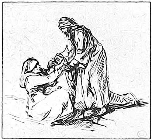 Jesus healing Peter's mother in law